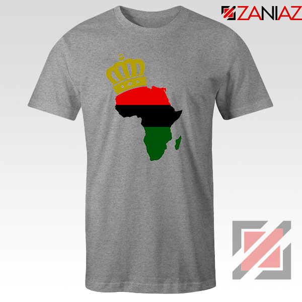 The African Flag Continent Sport Grey Tshirt