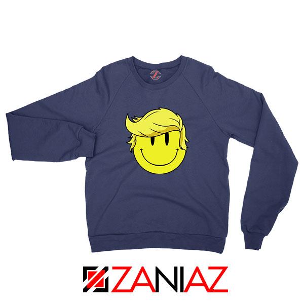 Trump Smiley Emoji Navy Blue Sweatshirt