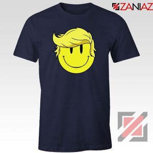Trump Smiley Emoji Navy Blue Tshirt