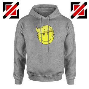 Trump Smiley Emoji Sport Grey Hoodie