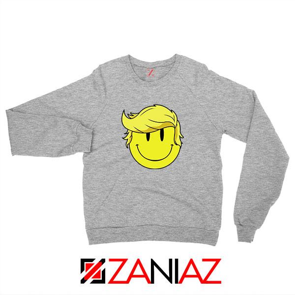 Trump Smiley Emoji Sport Grey Sweatshirt