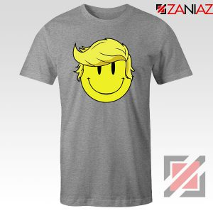 Trump Smiley Emoji Sport Grey Tshirt