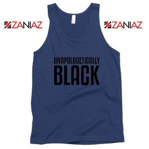 Unapologetically Black Navy Blue Tank Top