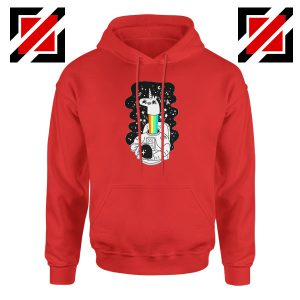 Unicorn In Space Red Hoodie