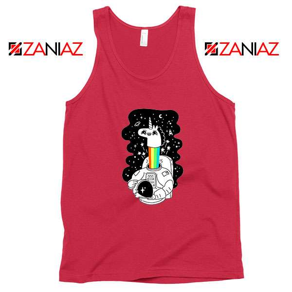 Unicorn In Space Red Tank Top