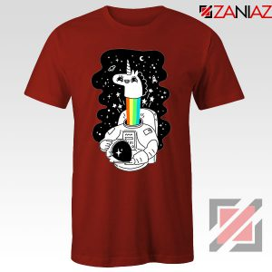 Unicorn In Space Red Tshirt