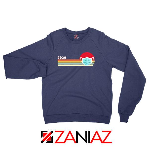 2020 Look Face Mask Navy Blue Sweatshirt
