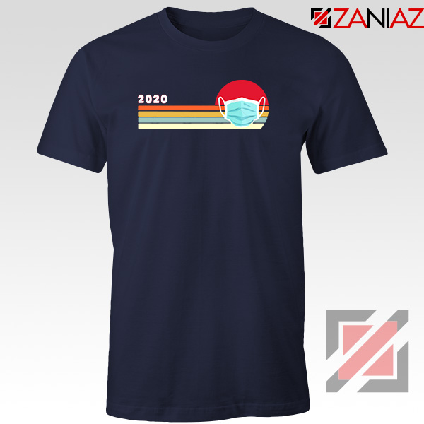 2020 Look Face Mask Navy Blue Tshirt