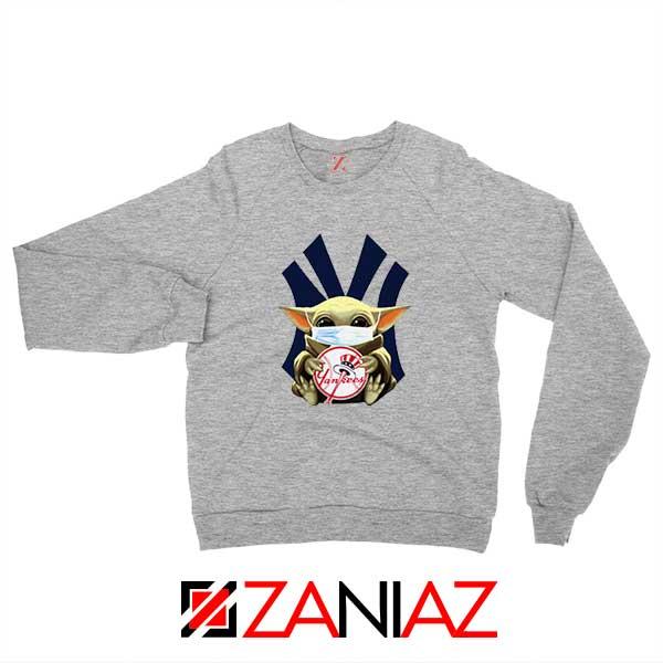 Baby Yoda NY Yankees Sport Grey Sweatshirt