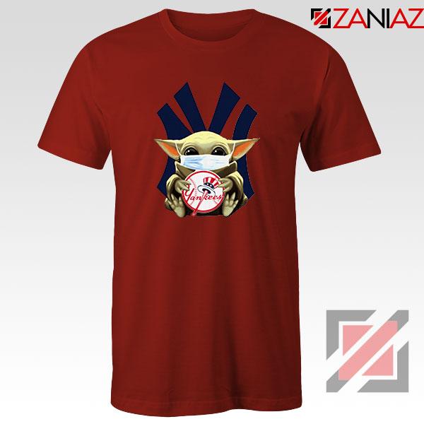 Baby Yoda New York Yankees Red Tshirt
