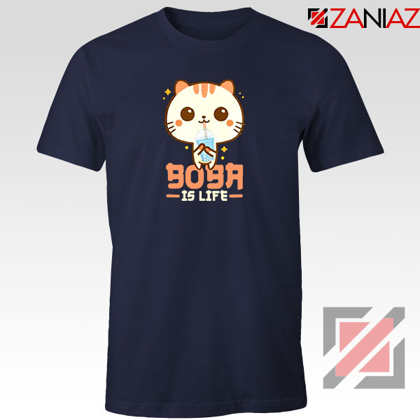 Boba Is Life Navy Blue Tshirt