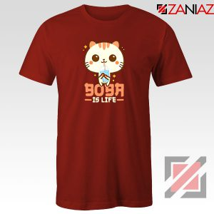 Boba Is Life Red Tshirt