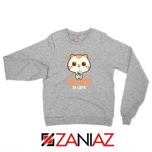 Boba Is Life Sport Grey Sweatshirt