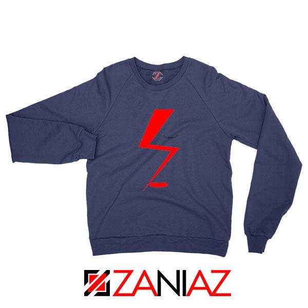 Bowie Face Navy Blue Sweatshirt