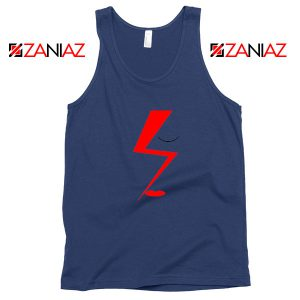 Bowie Face Navy Blue Tank Top