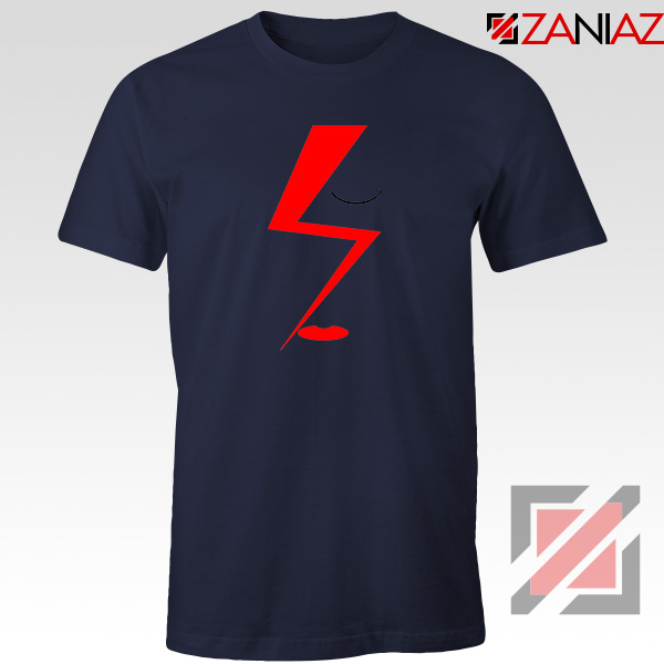 Bowie Face Navy Blue Tshirt