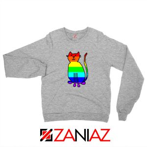Cat Rainbow Sport Grey Sweatshirt