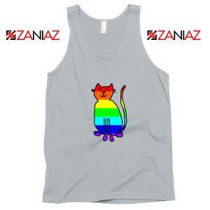 Cat Rainbow Sport Grey Tank Top