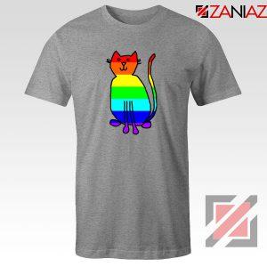 Cat Rainbow Sport Grey Tshirt