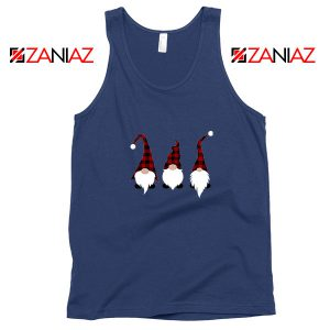 Christmas Gnome Navy Blue Tank Top