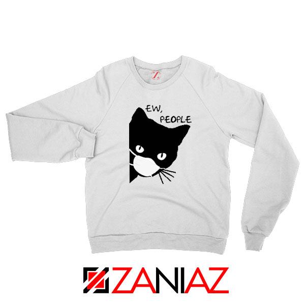 Ew People Cat Face Mask Sweatshirt