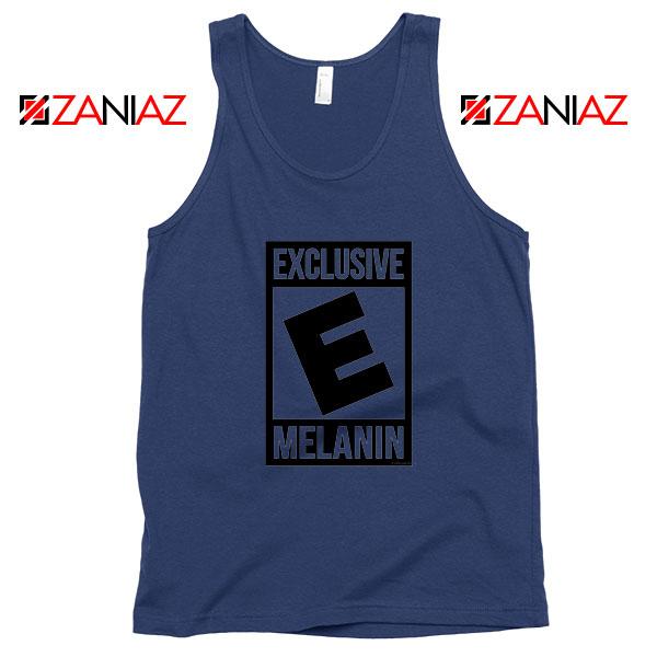 Exclusive Melanin Navy Blue Tank Top