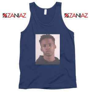 Free Tay K Rapper Navy Blue Tank Top