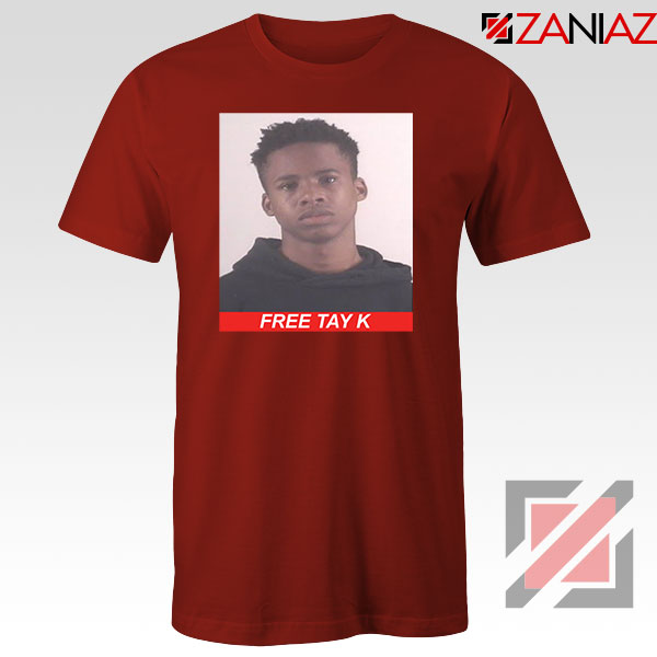 Free Tay K Red Tshirt