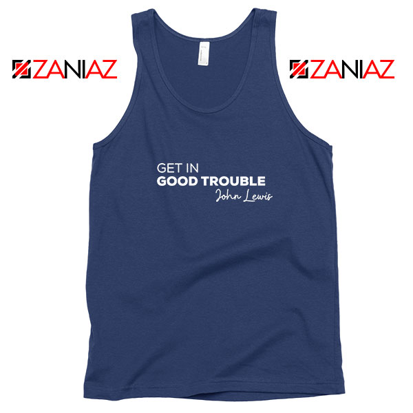 Get In Good Trouble Navy Blue Tank Top