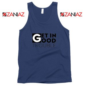 Get in Trouble Navy Blue Tank Top
