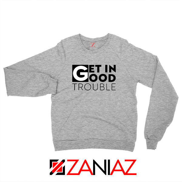 Get in Trouble Sport Grey Sweatshirt