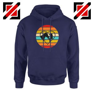 Girl With a Horse Navy Blue Hoodie
