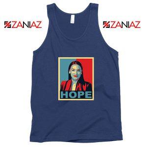 Hope Alexandria Ocasio Cortez Navy Blue Tank Top