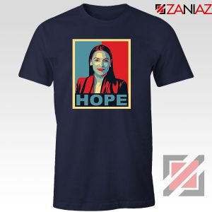 Hope Alexandria Ocasio Cortez Navy Blue Tshirt