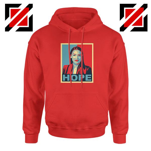 Hope Alexandria Ocasio Cortez Red Hoodie