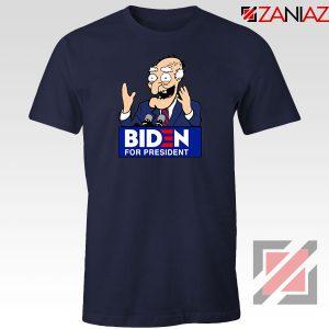Joe Biden Cartoon Naavy Blue Tshirt