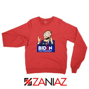 Joe Biden Cartoon Red Sweatshirt