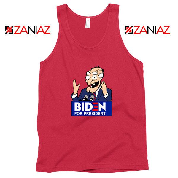 Joe Biden Cartoon Red Tank Top