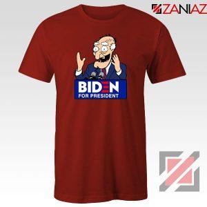 Joe Biden Cartoon Red Tshirt