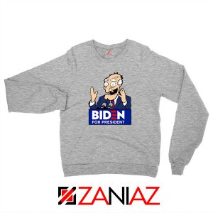 Joe Biden Cartoon Sport Grey Sweatshirt