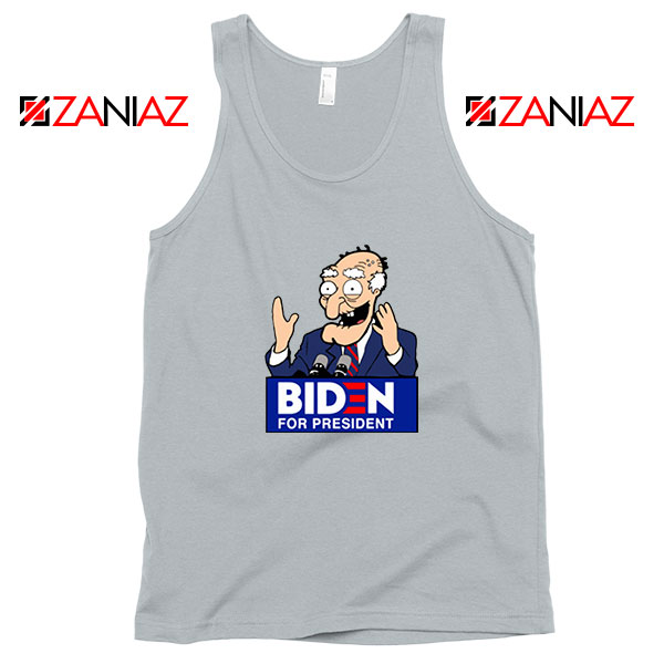 Joe Biden Cartoon Sport Grey Tank Top