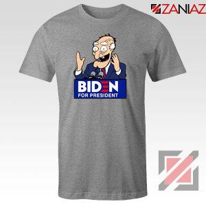 Joe Biden Cartoon Sport Grey Tshirt
