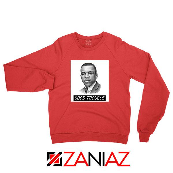 John Lewis Quotes Red Sweatshirt