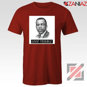 John Lewis Quotes Red Tshirt