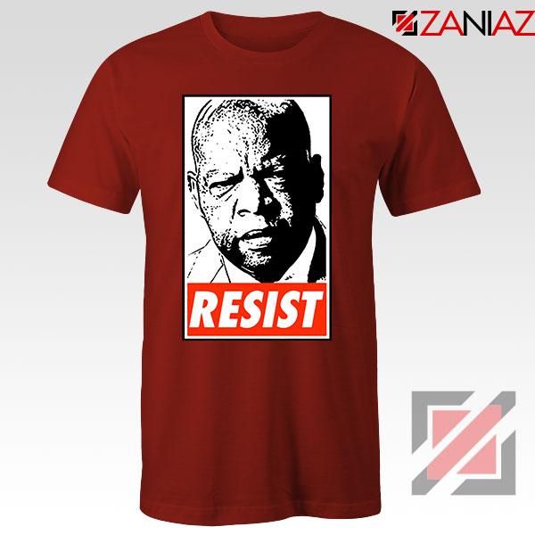 John Lewis Resist Red Tshirt