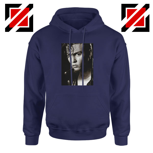 Johnny Depp Cry Baby Navy Blue Hoodie