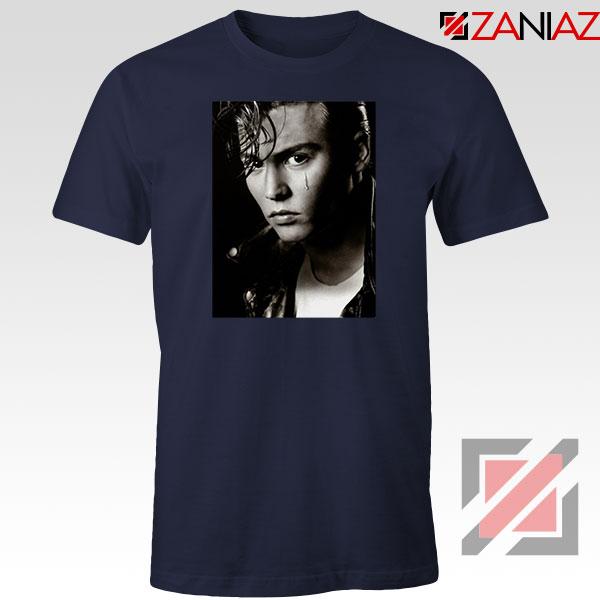 Johnny Depp Cry Baby Navy Blue Tshirt
