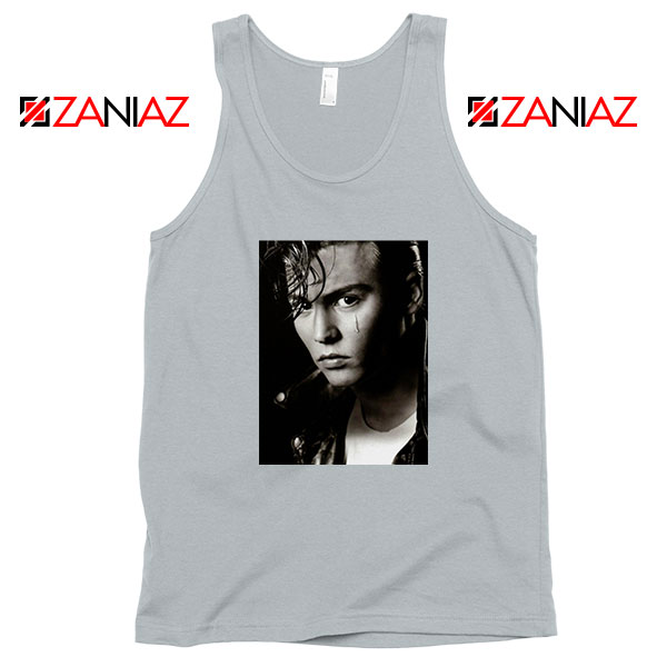 Johnny Depp Cry Baby Sport Grey Tank Top