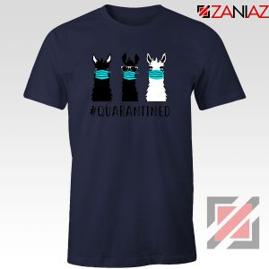 Llama Face Mask Navy Blue Tshirt