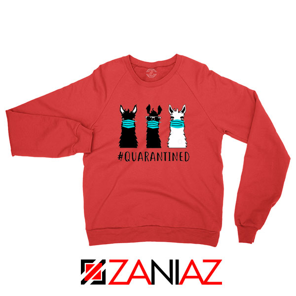Llama Face Mask Red Sweatshirt